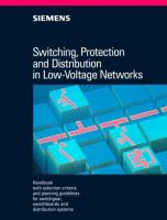 Cover image for Switching, protection and distribution in low-voltage networks : handbook with selection criteria and planning guidelines for switchgear, switchboards and distribution systems