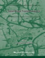 Cover image for Solid phase transformations