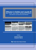 Cover image for Diffusion in solids and liquids III