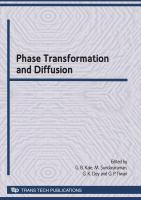 Cover image for Phase transformation and diffusion