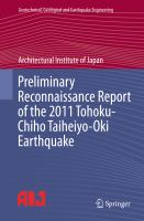 Cover image for Preliminary reconnaissance report of the 2011 Tohoku-chiho Taiheiyo-oki Earthquake