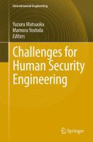 Cover image for Challenges for human security engineering