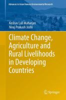 Cover image for Climate change, agriculture and rural livelihoods in developing countries