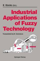 Cover image for Industrial applications of fuzzy technology