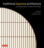 Cover image for Traditional Japanese architecture : an exploration of elements and forms