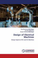 Cover image for Design of Electrical Machines: Design Aspects of DC and AC Machines