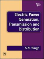 Cover image for Electric power generation, transmission and distribution