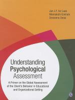 Cover image for Understanding psychological assessment : a primer on the global assessment of the client's behavior in educational and organizational setting