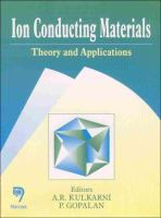Cover image for Ion conducting materials : theory and applications