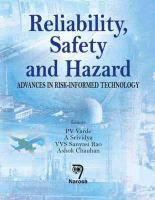 Cover image for Reliability, safety and hazard : advances in risk-informed technology