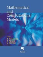 Cover image for Mathematical and computational models