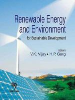 Cover image for Renewable energy and environment for sustainable development