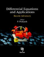 Cover image for Differential equations and applications : recent advances
