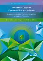 Cover image for Advances in Computer Communications and Networks : From Green, Mobile, Pervasive Networking to Big Data Computing