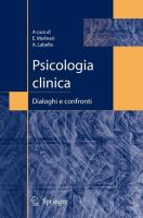 Cover image for Psicologia clinica Dialoghi e confronti