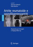 Cover image for Artrite reumatoide e spondiloentesoartriti Diagnostica per immagini e imaging follow-up