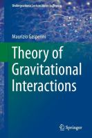 Cover image for Theory of gravitational interactions