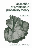 Cover image for Collection of problems in probability theory