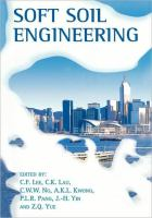 Cover image for Soft soil engineering : proceedings of the third international conference on soft soil engineering