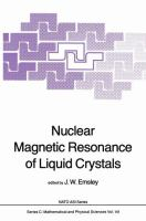 Cover image for Nuclear magnetic resonance of liquid crystals