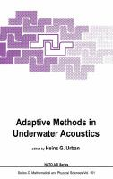 Cover image for Adaptive methods in underwater acoustics