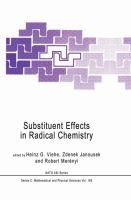 Cover image for Substituent effects in radical chemistry