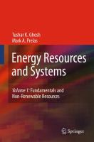 Cover image for Energy resources and systems