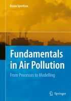 Cover image for Fundamentals in air pollution : from processes to modelling