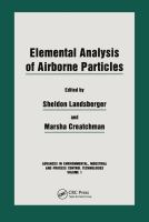 Cover image for Elemental analysis of airborne particles