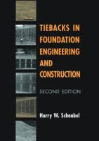Cover image for Tiebacks in foundation engineering and construction