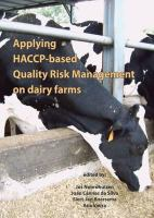 Cover image for Applying HACCP-based quality risk management on dairy farms