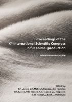 Cover image for Proceedings of the Xth International Scientific Congress in Fur Animal Production