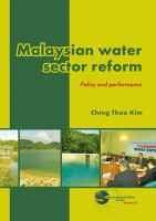Cover image for Malaysian water sector reform : policy and performance