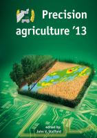 Cover image for Precision agriculture '13