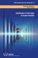 Cover image for Identification of vital areas at nuclear facilities : technical guidance