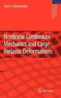 Cover image for Nonlinear continuum mechanics and large inelastic deformations