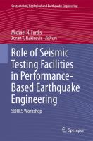 Cover image for Role of seismic testing facilities in performance-based earthquake engineering : SERIES Workshop