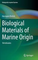 Cover image for Biological materials of marine origin : vertebrates