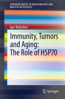 Cover image for Immunity, tumors and aging : the role of HSP70