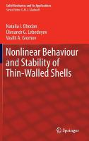 Cover image for Nonlinear behaviour and stability of thin-walled shells
