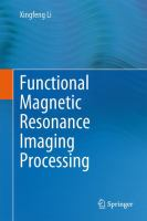 Cover image for Functional magnetic resonance imaging processing