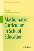 Cover image for Mathematics curriculum in school education