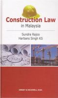 Cover image for Construction law in Malaysia