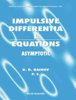 Cover image for Impulsive differential equations : asymptotic properties of the solutions