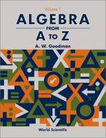 Cover image for Algebra from A to Z