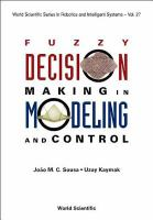 Cover image for Fuzzy decision making in modeling and control