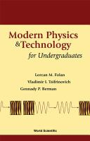 Cover image for Modern physics and technology for undergraduates