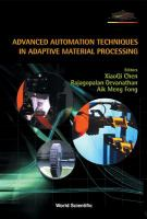 Cover image for Advanced automation techniques in adaptive material processing