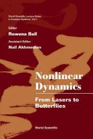 Cover image for Nonlinear dynamics : from lasers to butterflies : selected lectures from the 15th Canberra International Physics Summer School, Australian National University, 21 January-1 February 2002