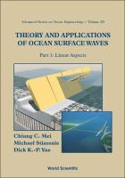 Cover image for Theory and applications of ocean surface waves